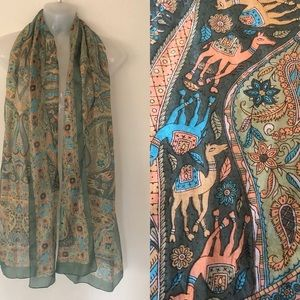 Camels Galore Silk Scarf